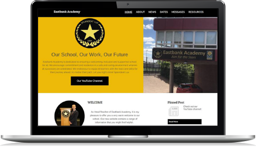 example website for schools from Connectus